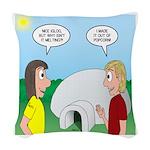 Popcorn Igloo Woven Throw Pillow