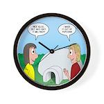 Popcorn Igloo Wall Clock