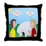Popcorn Igloo Throw Pillow