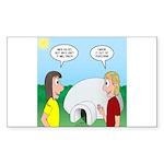 Popcorn Igloo Sticker (Rectangle 10 pk)