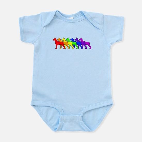 Rainbow Doberman Infant Bodysuit