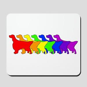 Rainbow English Setter Mousepad