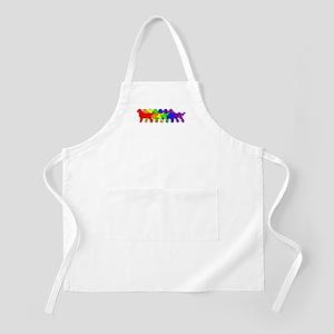 Rainbow Flatcoat BBQ Apron