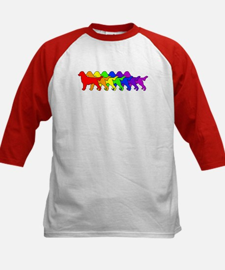 Rainbow Flatcoat Kids Baseball Jersey