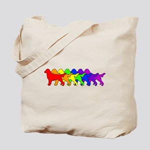 Rainbow Flatcoat Tote Bag