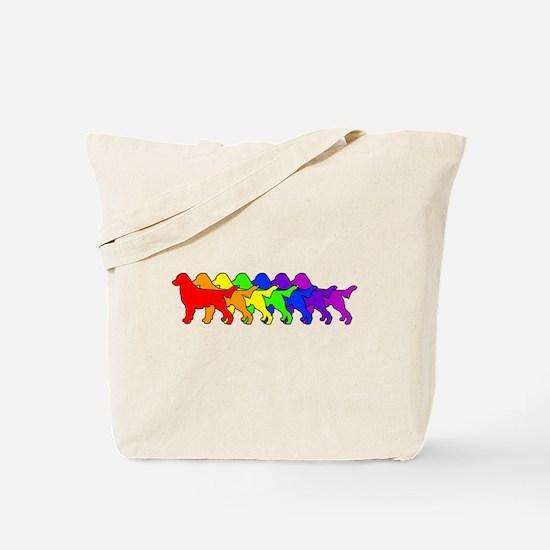 Rainbow Flatcoat Tote Bag