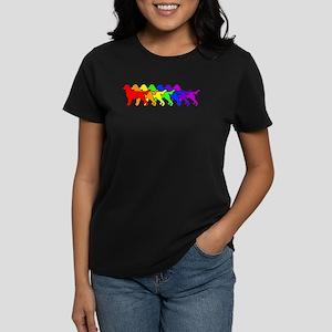 Rainbow Flatcoat Women's Dark T-Shirt
