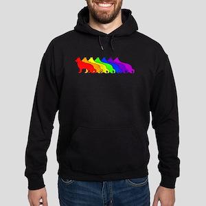 Rainbow German Shepherd Hoodie (dark)