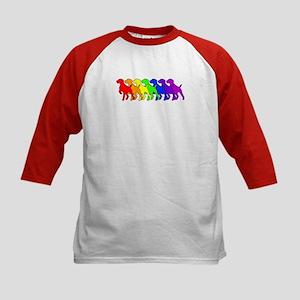 Rainbow GSP Kids Baseball Jersey