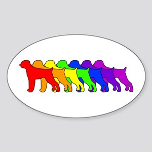 Rainbow GWP Oval Sticker