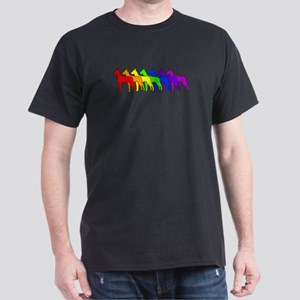 Rainbow Great Dane Dark T-Shirt