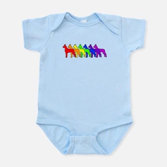 Rainbow Great Dane Infant Bodysuit