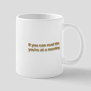 At a meeting Mug