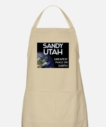sandy utah - greatest place on earth BBQ Apron