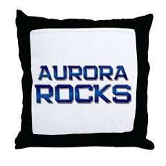 aurora rocks Throw Pillow