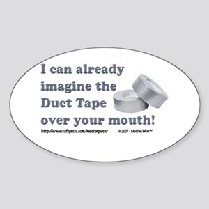 Duct Tape Oval Sticker