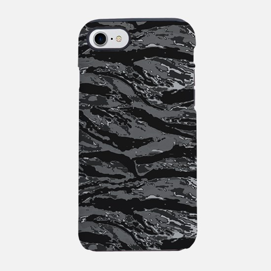 Gray Striped Camo iPhone 7 Tough Case