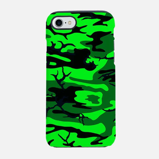 Alien Green Camo iPhone 7 Tough Case