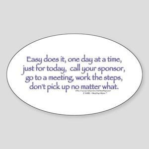 Easy does it! Oval Sticker