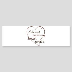 Edward makes my heart smile Bumper Sticker