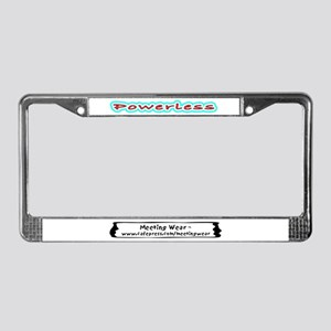 """Powerless"" License Plate Frame"