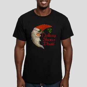 Gaelic Santa Crescent Men's Fitted T-Shirt (dark)
