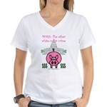 Pork Women's V-Neck T-Shirt
