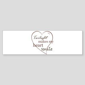 Twilight makes my heart smile Bumper Sticker