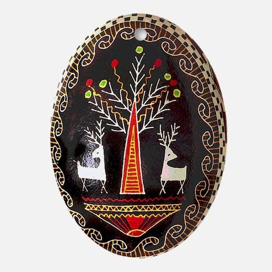 PYSANKA Ukrainian Design Oval Ornament
