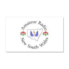 Amateur Radio NSW Logo Car Magnet 20 x 12
