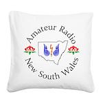 Amateur Radio NSW Logo Square Canvas Pillow
