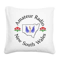 Amateur Radio NSW Logo Square Canvas Pillow