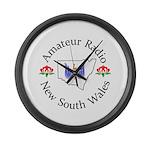 Amateur Radio NSW Logo Large Wall Clock