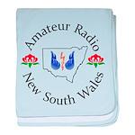 Amateur Radio NSW Logo baby blanket