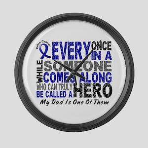 HERO Comes Along 1 Dad CC Large Wall Clock