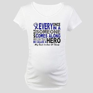 HERO Comes Along 1 Dad CC Maternity T-Shirt