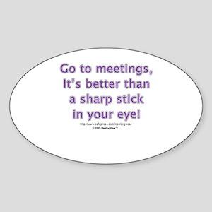 """It's better than a sharp sti Oval Sticker"