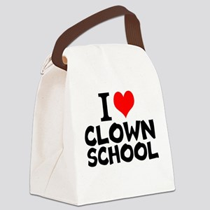 I Love Clown School Canvas Lunch Bag