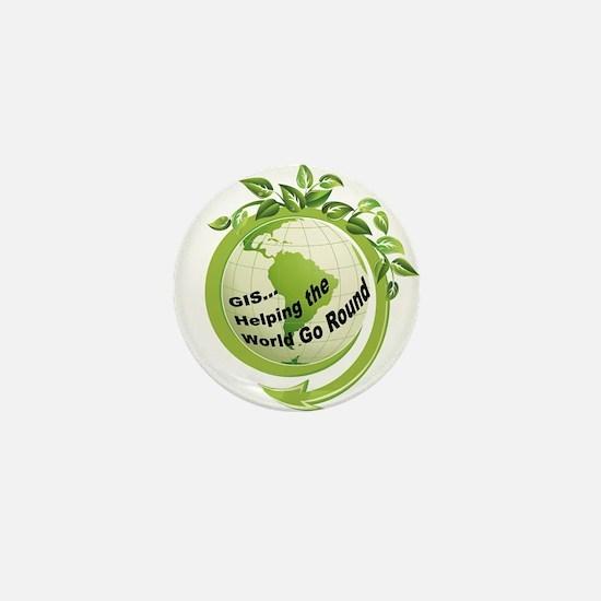 Cool Globe Mini Button