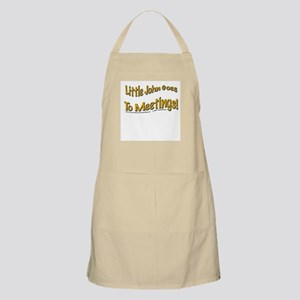 """John goes to meetings!"" BBQ Apron"