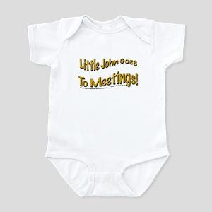 """John goes to meetings!"" Infant Creeper"