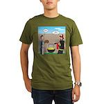 Unsafe Turkey Frying Organic Men's T-Shirt (dark)