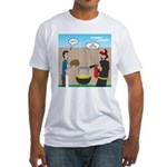 Unsafe Turkey Frying Fitted T-Shirt