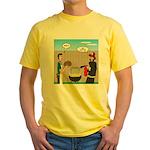 Unsafe Turkey Frying Yellow T-Shirt