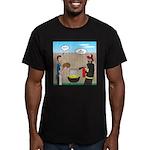 Unsafe Turkey Frying Men's Fitted T-Shirt (dark)