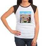 Unsafe Turkey Frying Junior's Cap Sleeve T-Shirt