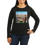 Unsafe Turkey Fry Women's Long Sleeve Dark T-Shirt