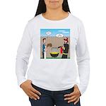 Unsafe Turkey Frying Women's Long Sleeve T-Shirt