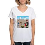 Unsafe Turkey Frying Women's V-Neck T-Shirt