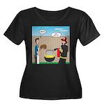 Unsafe T Women's Plus Size Scoop Neck Dark T-Shirt